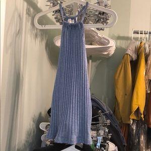 Zara Halter blue tank top